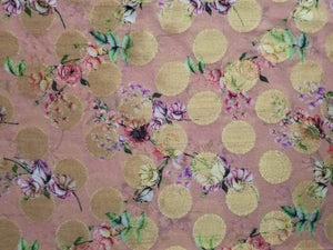 Floral Digital Printed Georgette Jacquard Fabric - Zooomberg