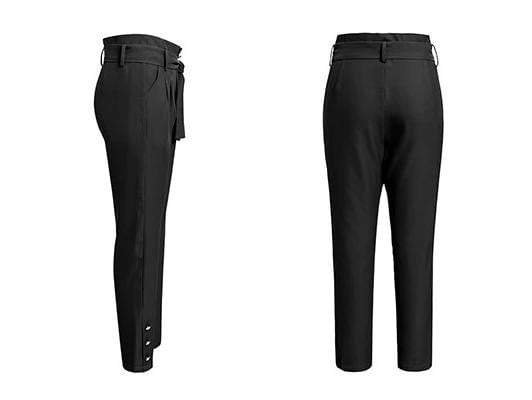 Elegant High Waist Buttons Women Pencil Pant - zooomberg