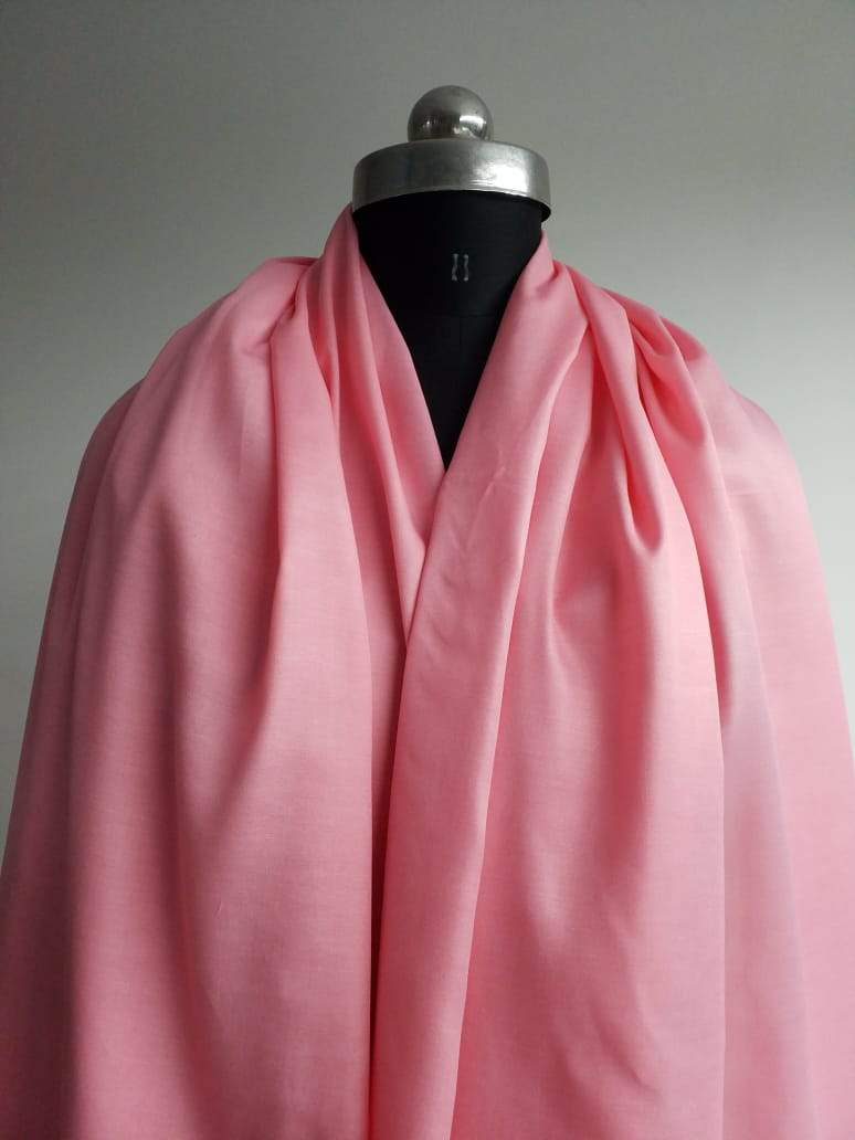 Pink Plain Dyed Linen Satin Fabric - Zooomberg