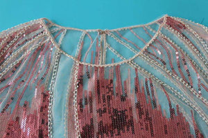 Embroidery Sequin Bead Sheer Lace Mesh Summer Blouse - Tops - Zooomberg - Zoomberg