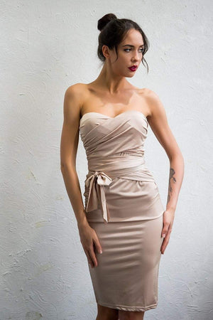 Sweetheart Bandage Dress - Dresses - Zooomberg - Zoomberg