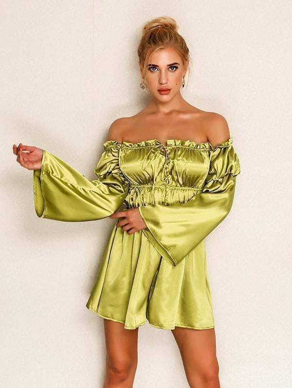Off Shoulder Jumpsuit with Belt - Jumpsuits - Zooomberg - Zoomberg