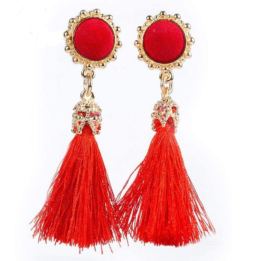 Vintage Earrings Drop Long Tassel Earring - zooomberg