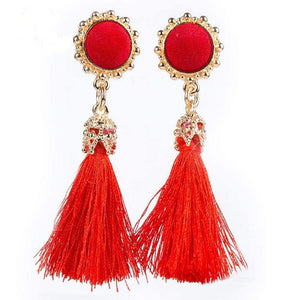 Get Vintage Earrings Drop Long Tassel Earring with RS. 250.00