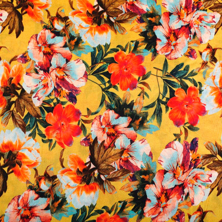 Kuberan Yellow Floral Fabric