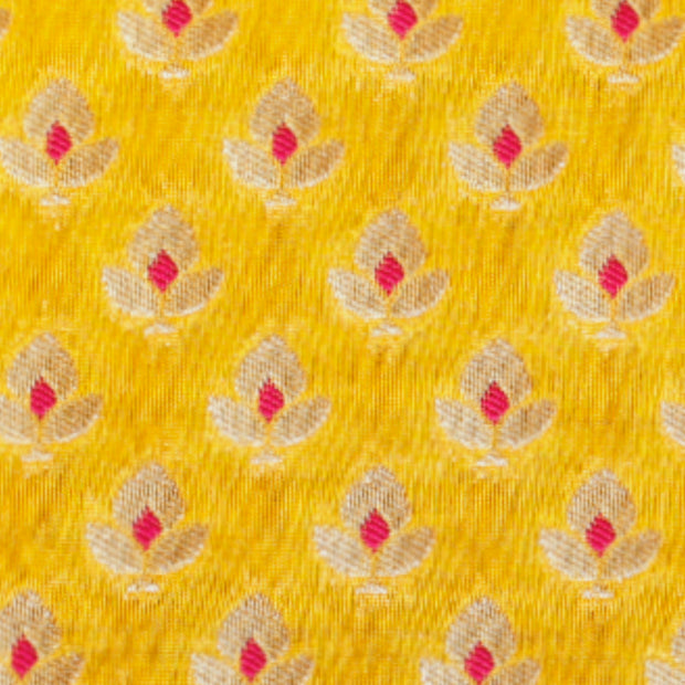 Kuberan Yellow Designer Fabric