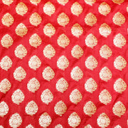 Kuberan Red Designer Fabric