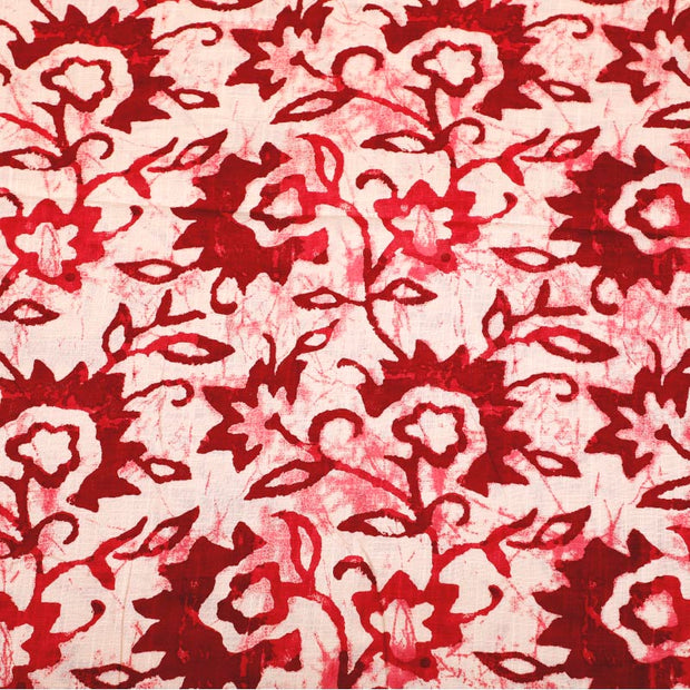 Kuberan White Red Fabric