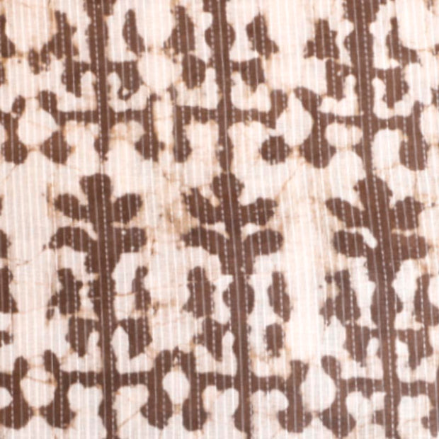 Kuberan White Brown Fabric