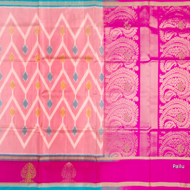 Kuberan Pink Soft Silk Saree