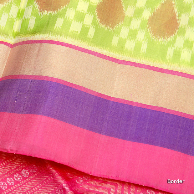 Kuberan Parrot Green Soft Silk Saree