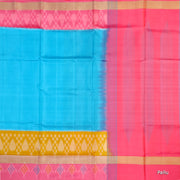 Kuberan Light Blue Yellow Soft Silk Saree