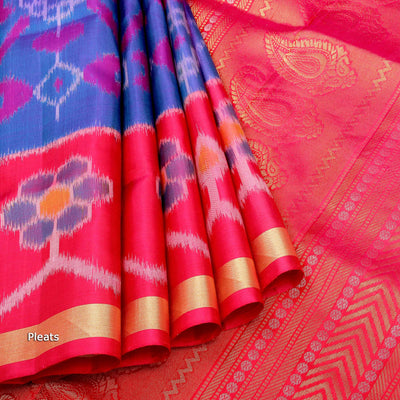 Kuberan Green Blue Soft Silk Saree