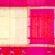 Kuberan White Pink Soft Silk Saree