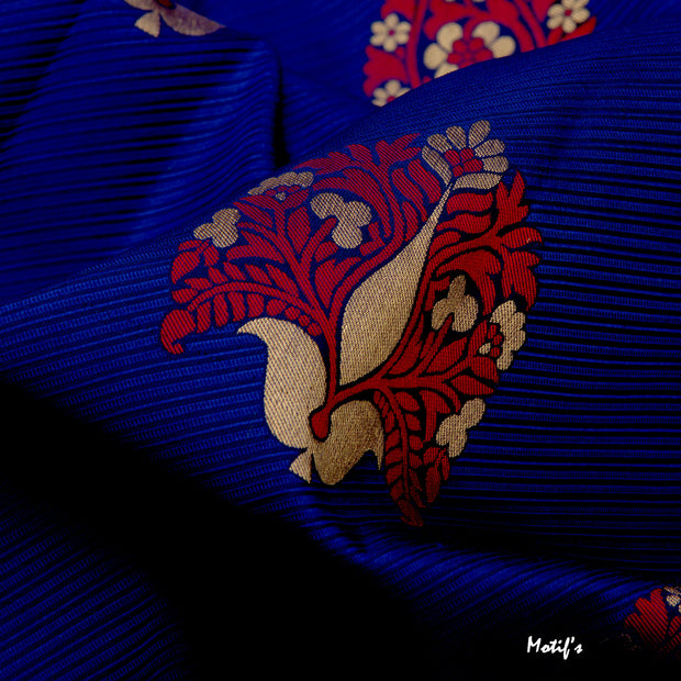 Kuberan Navy Blue Soft Silk Saree