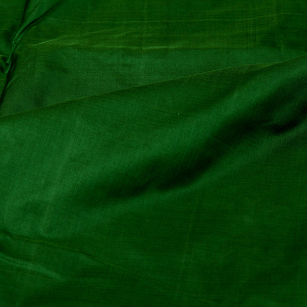 Kuberan Dark Green 9 Yards Silk saree