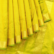 Kuberan Lime Green 9 Yards Silk Saree