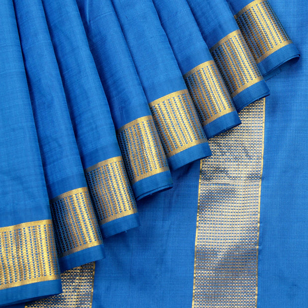 Kuberan Blue 9 Yards Silk Saree