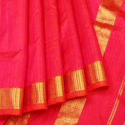 Kuberan Red Pink 9 Yards Silk Saree