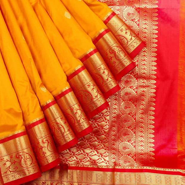 Kuberan Yellow Gold 9 Yards Silk Saree