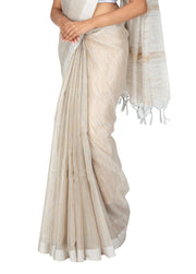 Kuberan Silver Kora Cotton Saree