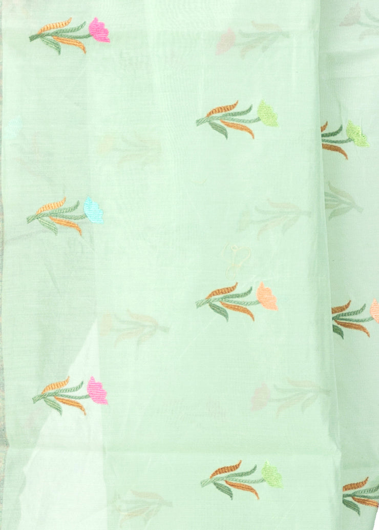Kuberan Light Blue Cotton Saree
