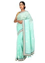 Kuberan Light Blue Linen Saree