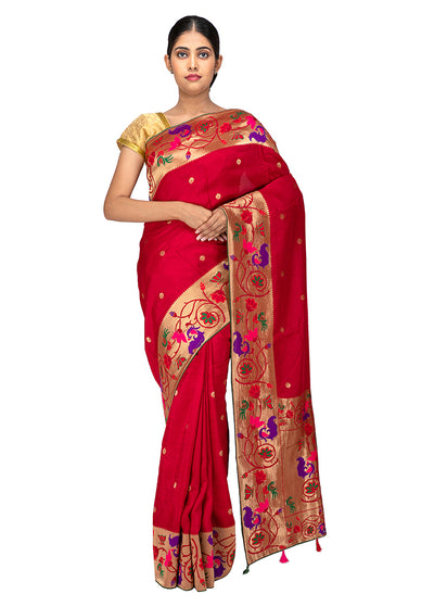 Kuberan Red Banaras Saree