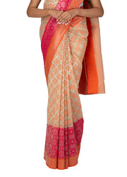Kuberan Cream Kora Cotton Saree