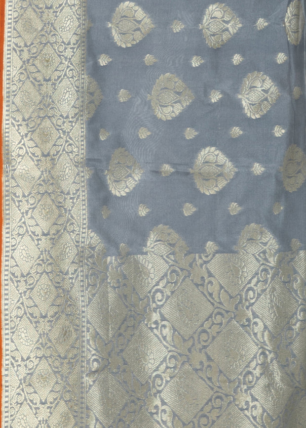 Kuberan Grey Linen Saree