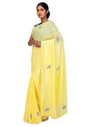 Kuberan Yellow Chiffon Saree