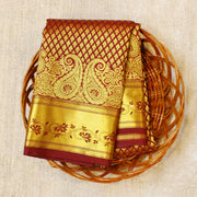 Kuberan Maroon Semi Silk Saree