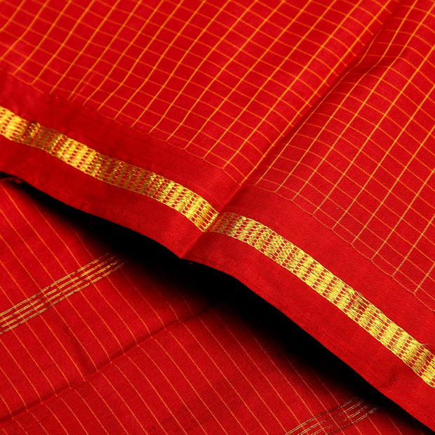Kuberan Royal Red 9 Yards Silk Saree