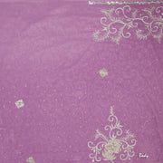 Kuberan Purple Chiffon Saree