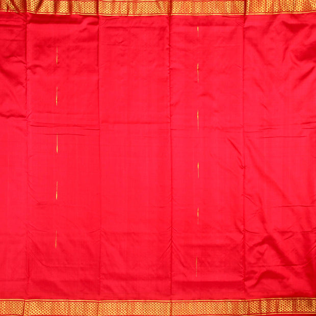 Kuberan Red 9 Yards Silk Saree