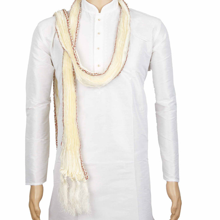 Kuberan White Wedding Stole