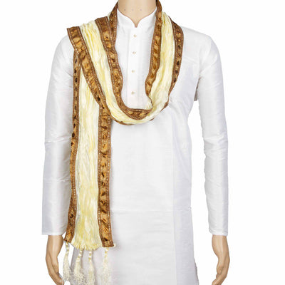 Kuberan Cream White Wedding Stole