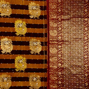Kuberan Brown Black Silk Saree