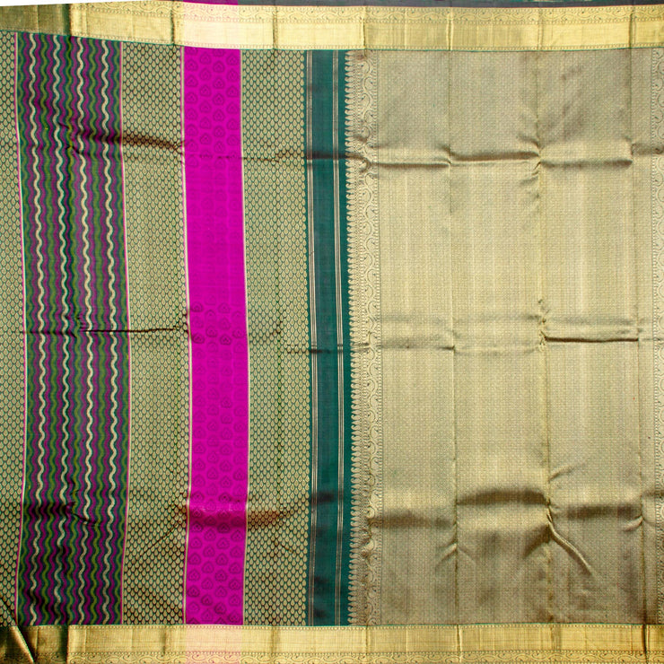 Kuberan Dull Green Kanchivaram Silk Saree