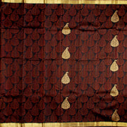 Kuberan Dark Maroon Kanchivaram Silk Saree