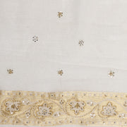 Kuberan White Net Khadi Saree