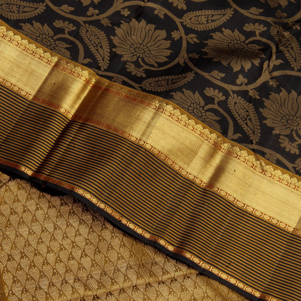 Kuberan Black Kanchivaram Silk Saree