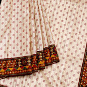 Kuberan Off White Chapa Saree