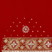 Kuberan Red Crepe Saree