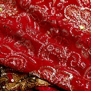 Kuberan Red Georgette Saree