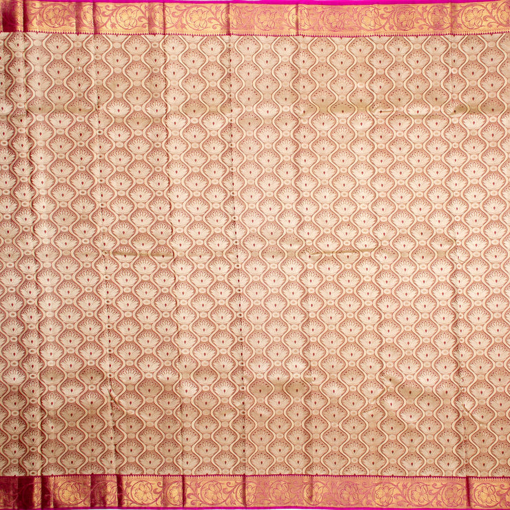 Kuberan Ivory Kanchivaram Silk Saree