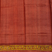Kuberan Brown Grey Tussar Pure Silk Saree