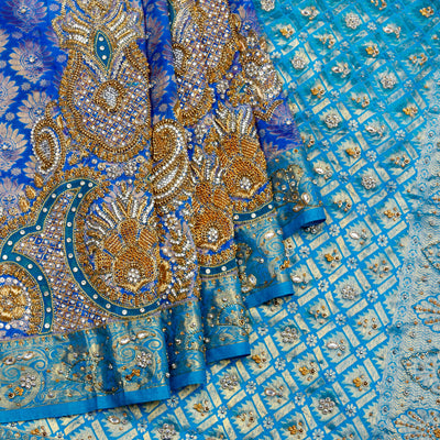 Kuberan Blue Silk Saree