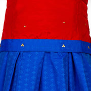 Kuberan Blue Orange Art Silk Readymade Pavada