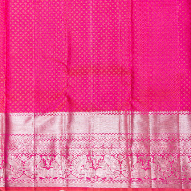 Kuberan Pink Kanchipuram Silk Saree